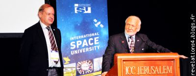 buzz Aldrin � J�rusalem, 66 � congr�s international d'astronautique